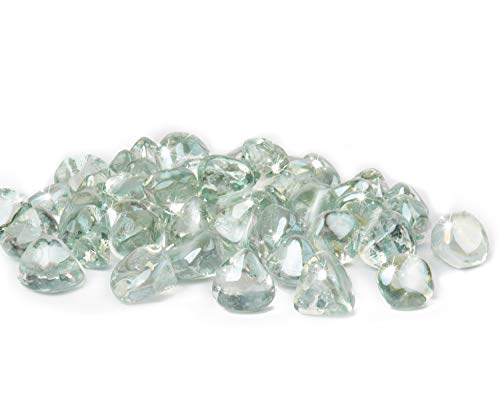 GASPRO 10lb Fire Glass Diamonds - Clear Luster 1