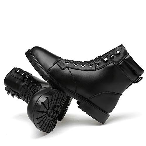 Exterior 43 opcional Negro Hombre Tamaño 2018 Alta Con De Vellón Moda Color Para Forro Warm Eu Comodidad Suela Martin Hombre Black Ocio Clásico Botas Convencional BawSCx6nqw