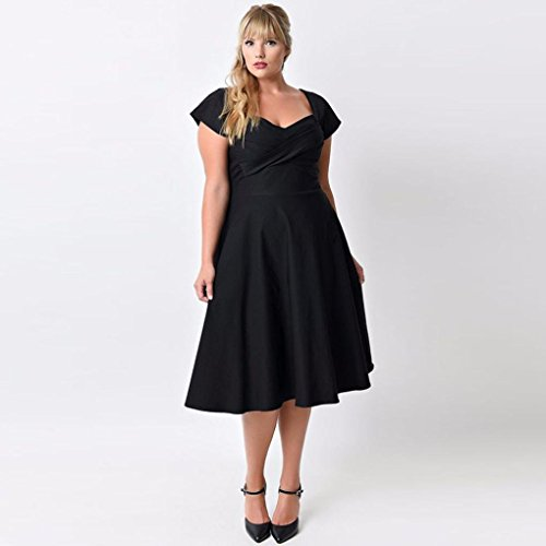 TAORE Plus Size Women Floral Printed Long Evening Party Dress Prom Gown Formal Cocktail Dress (3XL, Wab-Black)