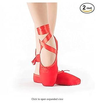 low priced a06aa ebe0d Frauen Mädchen Ballett Schuhe Pointe Schuhe Satin Schuhe mit ...