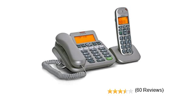 Emporia D40ABB - Teléfono inalámbrico con teclas grandes y función manos libres, color plateado: Amazon.es: Electrónica