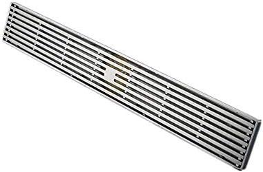 浴室用ユニット 排水口カバー バス用 耐久性に優れた銅フロアは大流量デオドラントアンチウォーターバスルームの床排水タイルシャワーヘアーキャッチャーアンチ臭ストレーナーアンティークコッパードレイン 排水 防臭 防菌 衛生管理 (色 : 銀, サイズ : 50 x 8 x 7 cm)