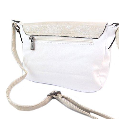 Borsa multitasche Scarlettglitter beige bianco - 26x20x9 cm. Primera Calidad e67eIltO