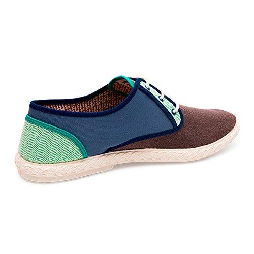 in Brown Lässige Baumwolle Artesanel Hergestellt Mode Sneaker Hergestelltes Maians für Männer Blue 100 Schuhe Green Spanien 68xw7dY