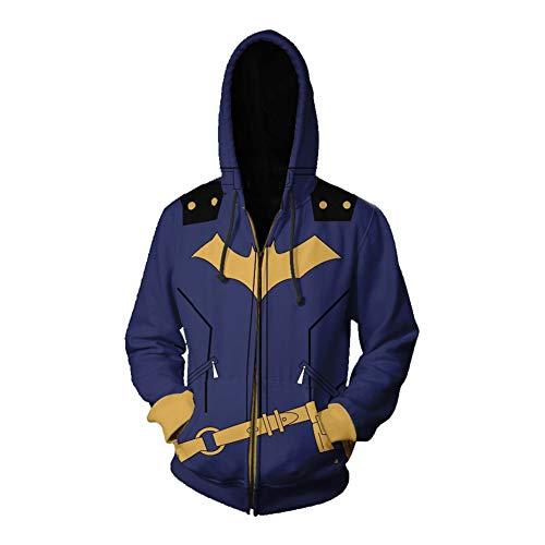 HPY Cosplay Hoodie Costume Sweatshirt BG Coat Jacket Barbara Christmas Halloween 2XL Blue]()