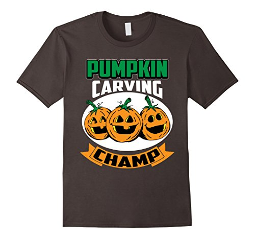 Mens Funny Cute Halloween Pumpkin Carving Champ Competition Shirt Large (Halloween Pumpkin Carving Competition)