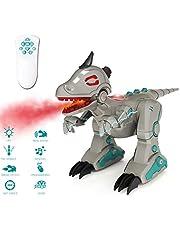 deAO RC Dinosaurio Inteligente Robot Teledirigido con Infrarrojos Efectos de Humo Luces y Sonidos Juguete T-Rex Electrónico