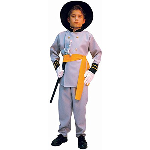 Confederate Soldier Costume Child (Confederate Officer Soldier Costume Child Large 12-14)