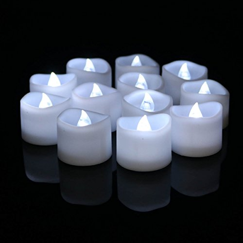 Wholesale Flameless Candles Unscented Wave Open Flickering Realistic Battery Operated LED Tealights Candle For Wedding Birthday Party Decoration, 44 X 24 Pack, Electric Fake Candle in Cold White ()