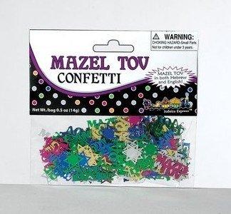 Mazel Tov Multi Color Confetti for Weddings, Bar/Bat Mitzvahs and Festive Occasions
