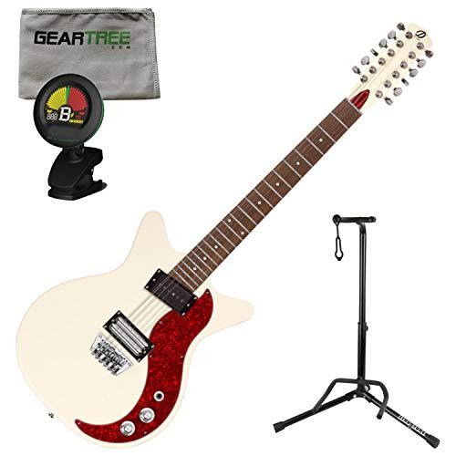 - Danelectro D59X12 59X 12 String Electric Guitar Cream w/Polish Cloth, Stand, an