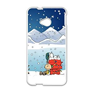 Snoopy 008 HTC One M7 Cell Phone Case White TPU Phone Case RV_541367