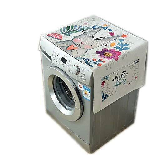 - JIA-WALK Nordic Washing Machine Single Door Refrigerator Cover Cloth Dust Cloth Drum Washing Machine Universal Cotton Cover Towel,Rabbit