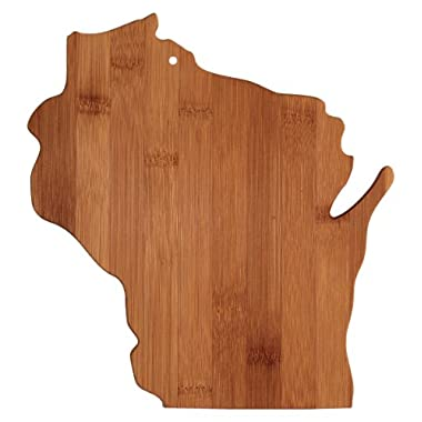 Totally Bamboo State Cutting & Serving Board, Wisconsin, 100% Bamboo Board for Cooking and Entertaining