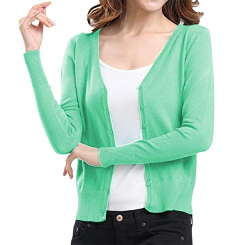 Donna Ragazza Primaverile Elegante Taglie Maglia Cappotto Outwear Giacche Fine Giacca V Forti Verde Autunno neck Lunghe Single A Chic Breasted Tempo Maniche Base Libero Fashion gqxEEwA