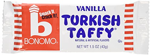 Bonomo Turkish Taffy Bar (Bonomo Turkish Taffy Vanilla Flavor (Pack of 24))