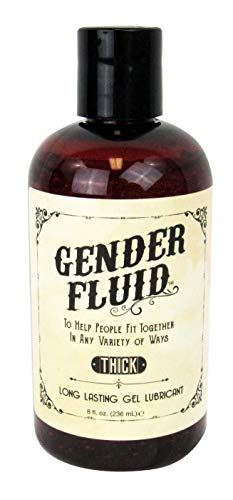 Gender Fluid Thick, Personal Long Lasting Water Based Gel Lubricant, 8 Ounce Bottle