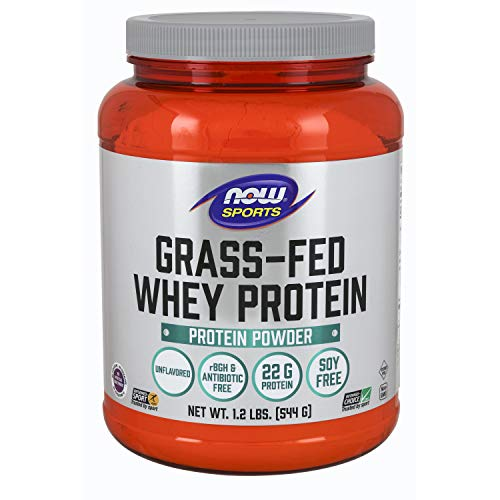 - Now Sports Nutrition, Grass-fed Whey Protein Concentrate, Unflavored, 1.2-Pound