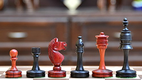 Chessbazaar The Castle Series Unique Chess Pieces In Ebony & Bud Rose - Rose Ebony