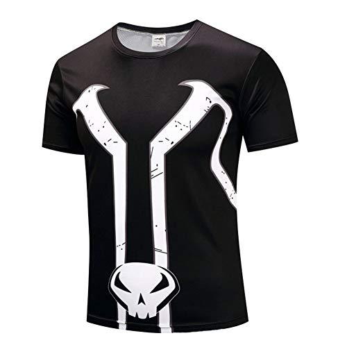 PKAWAY Mens Cool Slim Fit Quick Dry Spawn Workout T Shirt 3XL ()