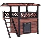 Modernes Katzenhaus mit Dach Dachterasse für Innenbereich Außenbereich Indoor Outdoor