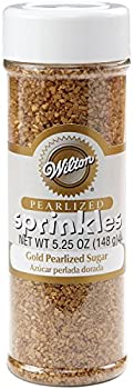 Wilton 5.25 oz Gold Pearlized Sugar Sprinkles