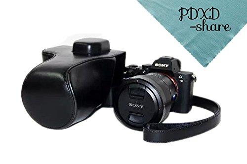 PDXD-share Kamera Tasche PU-Leder Tasche für Sony A7R II Vollformat-Kamera (Schwarz)