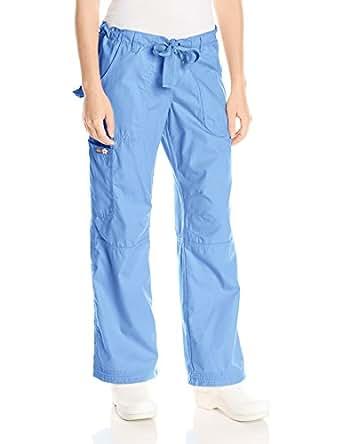 Koi Women's Lindsey Ultra Comfortable Cargo Style Scrub Pants (PETITE SIZES), True Ceil, XX-Small/Petite