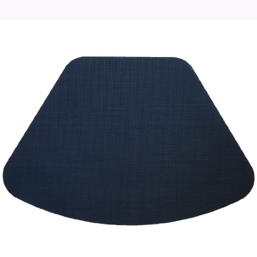 Set of 2 Dark Blue Wipe Clean Wedge-Shaped Placemat