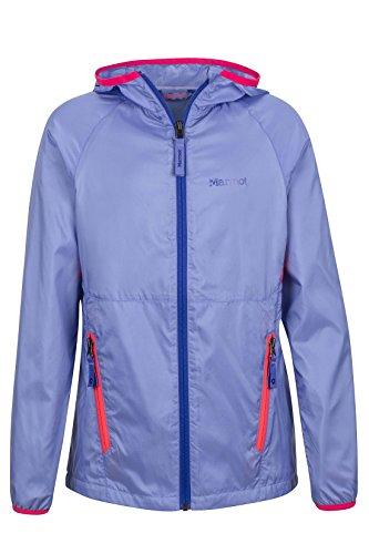 Marmot Ether Girls' Lightweight Hooded Windbreaker Jacket, Periwinkle, (Marmot Trail Light)