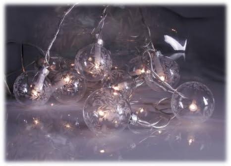 Christbaumkugeln Hersteller.Amazon De Lichterkette 10 Christbaumkugeln Aus Glas Klar