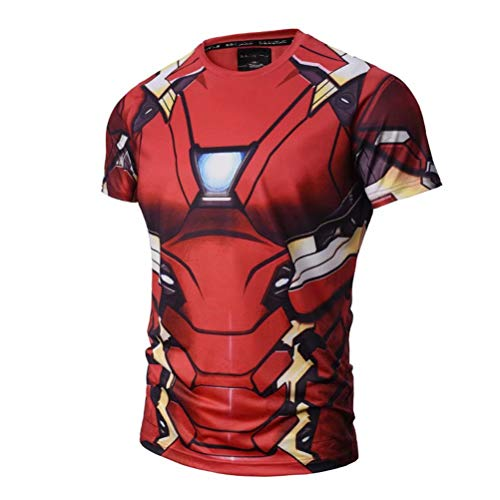 Iron Man Compression Shirts Super Hero Costume Clothes Summer T Shirt
