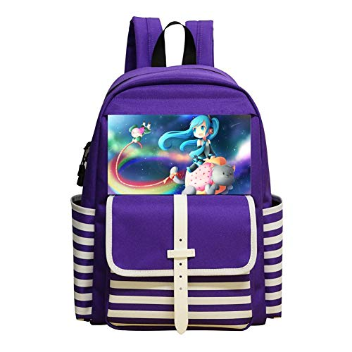 Large Capacity Riding_Nyan Cat_Miku School Backpack, School Bags Book Package Note Package for - Crypton Bag
