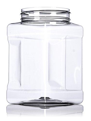 48 once pacchetto di 6 Pride Of India chiaro commestibile plastica pet presa quadrato stoccaggio vaso w//tappo