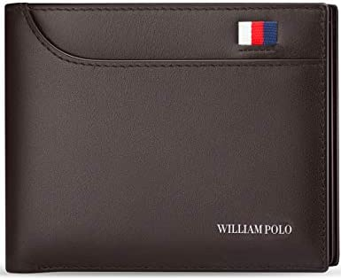 Men/'s Leather Bifold Wallet Coin Purse ID Credit Card Holder Short Money Clip