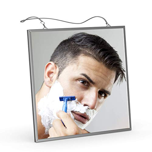 Fogless Shaving Shower Mirror, Liootech Fog Free Mirror Narrow Bezel Ultra-thin 6.7 inch -