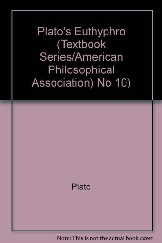 Plato's Euthyphro (Textbook series / American Philological Association)