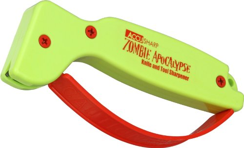 Accusharp 018C Knife and Tool Sharpener, Zombie Apocalypse