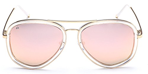"PRIVÉ REVAUX ""The Supermodel"" Handcrafted Designer Polarized Brow Bar Sunglasses For Men & Women ()"