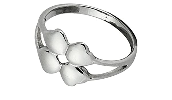 Chic-Net Anillo de plata trébol de cuatro hojas 925er diseñador Plata esterlina anillos joyería: Chic-Net: Amazon.es: Joyería