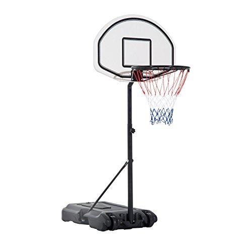 Portable Adjustable Poolside Basketball Hoop Free Standing Net Backboard With Ebook