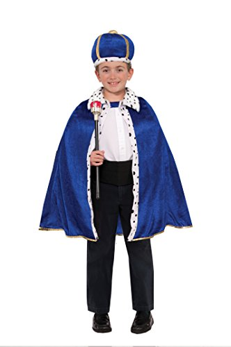 Forum Novelties 78431 King Robe & Crown Set Costume, Toddler, Blue, Pack of 1 -