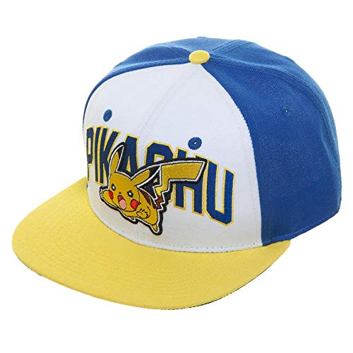 Bioworld Pokemon Pikachu Color Block Snapback Hat]()