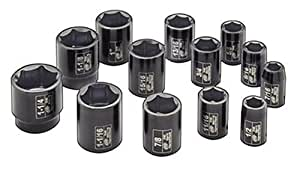 Ingersoll Rand SK4H13 1/2-Inch Drive 13-Piece SAE Standard Impact Socket Set