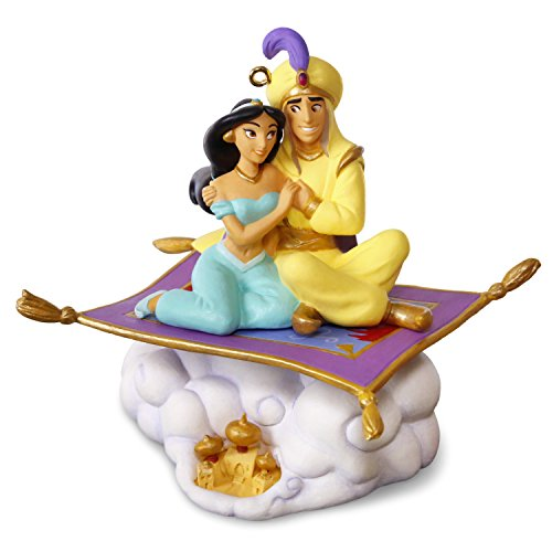 Hallmark Keepsake 2017 Disney Aladdin 25th Anniversary Christmas Ornament With Music