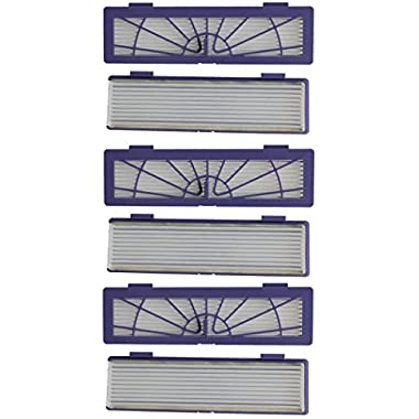 I-clean 6-pack High-performance Filter Replacement + 3 Side Brushes for All Neato Botvac Series Models, 70e 75 80 85