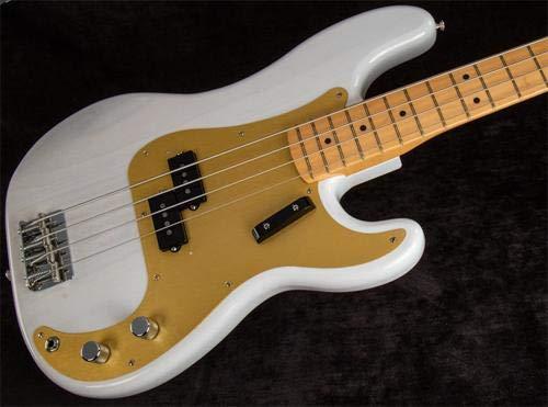 Fender American Original '50s Precision Bass Electric Bass Guitar White Blonde -