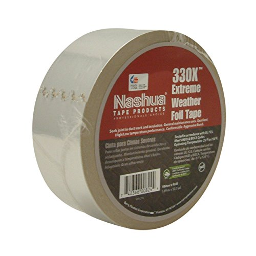 Nashua Foil Tape (Nashua 330X Extreme Weather Foil Tape, 3.5 mil Thick, 50 yards Length x 2