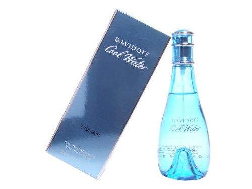Cool Water par Zino Davidoff pour les femmes. Déodorant spray 3,4 onces.