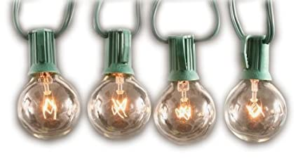 sival clear globe string lights set of 25 g40 bulbs perfect for patio gardens
